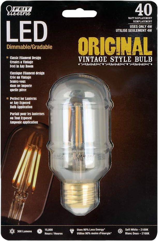 Feit Electric LEDThe Original Vintage T14 Amber Glass Bulb Pack of 20