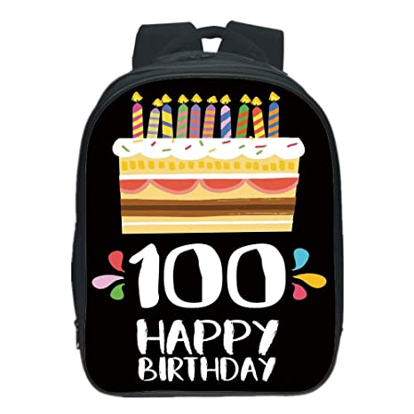 IPrint Pictures Print Design Kids School Backpack100th Birthday DecorationsOld Legacy 100