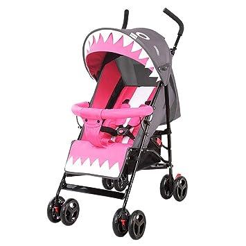 YKQ Cochecitos para niños pequeños Lindo y fácil de Doblar Cómodo Sistema de Viaje para bebés Sentado y acostado 0-3 años de Edad (Color : Gray): Amazon.es: ...