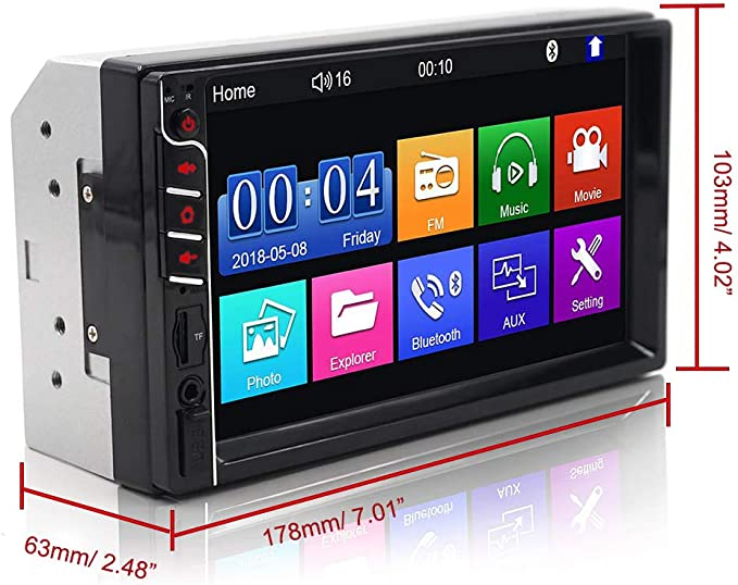 Bluetooth Car Radio MP3 Player Stereo USB Classic Style S6Y7 Car Audio Y5B1