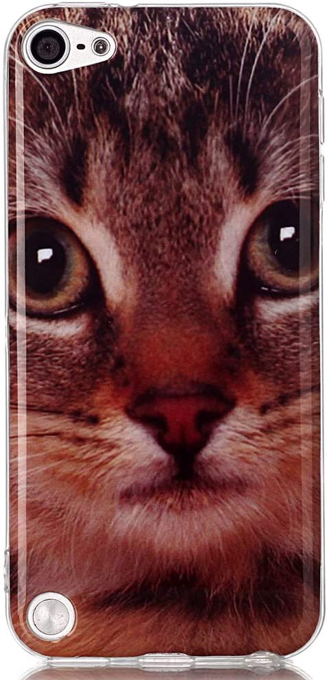 Alkax iPod Touch 7 Case,iPod Touch 6 Case,iPod Touch 5 Case,Cute Fashion Pattern Slim Soft Flexible TPU Lightweight Thin Shockproof Cover Protective for iPod Touch 5th 6th 7th Generation &Stylus-Cat