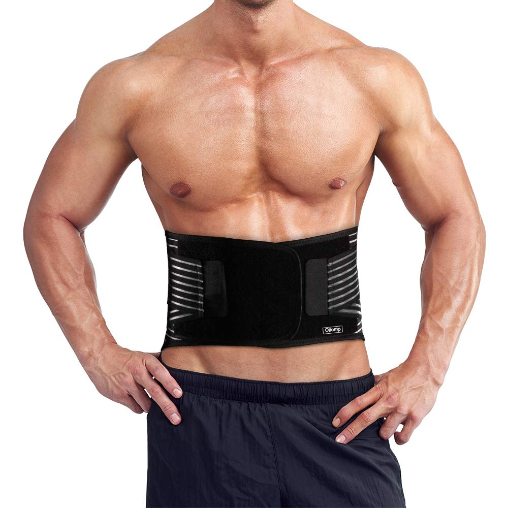 Oliomp Waist Trimmer Belt, Waist Trainer Wrap,Exercise Sweat Sauna Band for Men and Women,Abdominal Trainers,Back Lumbar Support-for Workout, Gym, Posture, Lifting,Fitness,Training,Running