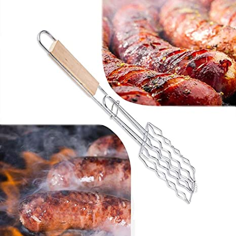 GO-AHEAD Parrilla Barbacoa Hot Dog Grill Basket Mango De ...