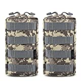 Cheap FUNANASUN 2 Pack Molle Pouches Tactical Compact Water Resistant EDC Pouch (ACU)