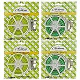 Black Duck Brand Set of 4 Garden Twist Tie Rolls! 100FT Each Spool! Features Dispenser and Cutter! Light Green, Dark Green!