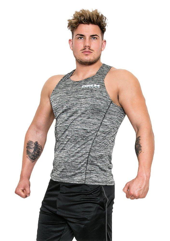 CoreX Mens Training Vest - Charcoal Marl - Large