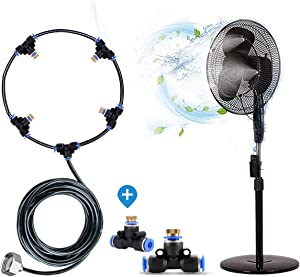 H&G lifestyles Outdoor Fan misting for patios Water Mister Cooling Patio Connects Any Outdoor Fan to Convert misting Fan Turns Heat Down by 20 Degrees(Fan not Included)