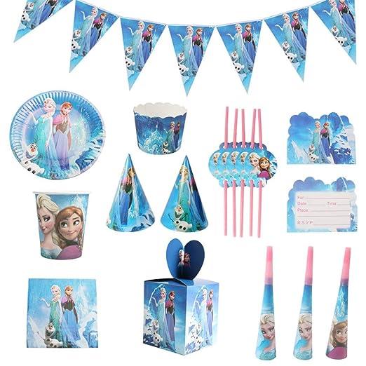 QAnter 104 Piezas Frozen Elsa y Anna Tazas temáticas ...