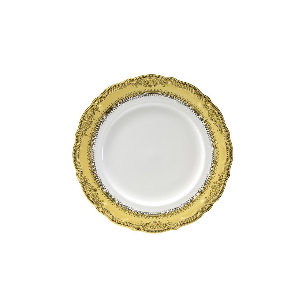 10 Strawberry Street Vanessa 7'' Bread & Butter Plate, Set of 6, Gold