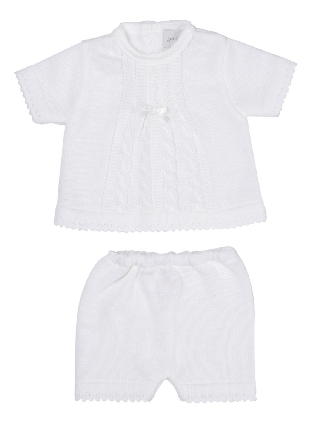 New in ! Spanish Style Baby Boys 2 Piece Knitted Summer Short and Top Set