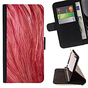 DEVIL CASE - FOR HTC One M9 - Pink Feathers Art Bird Animal Nature Soft - Style PU Leather Case Wallet Flip Stand Flap Closure Cover