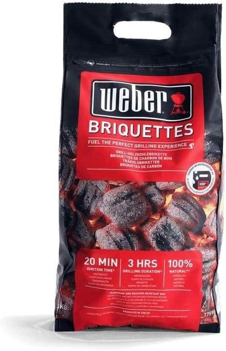 Weber 1759070 Briquetas 4 kg, Negro, 30 x 20 x 17 cm