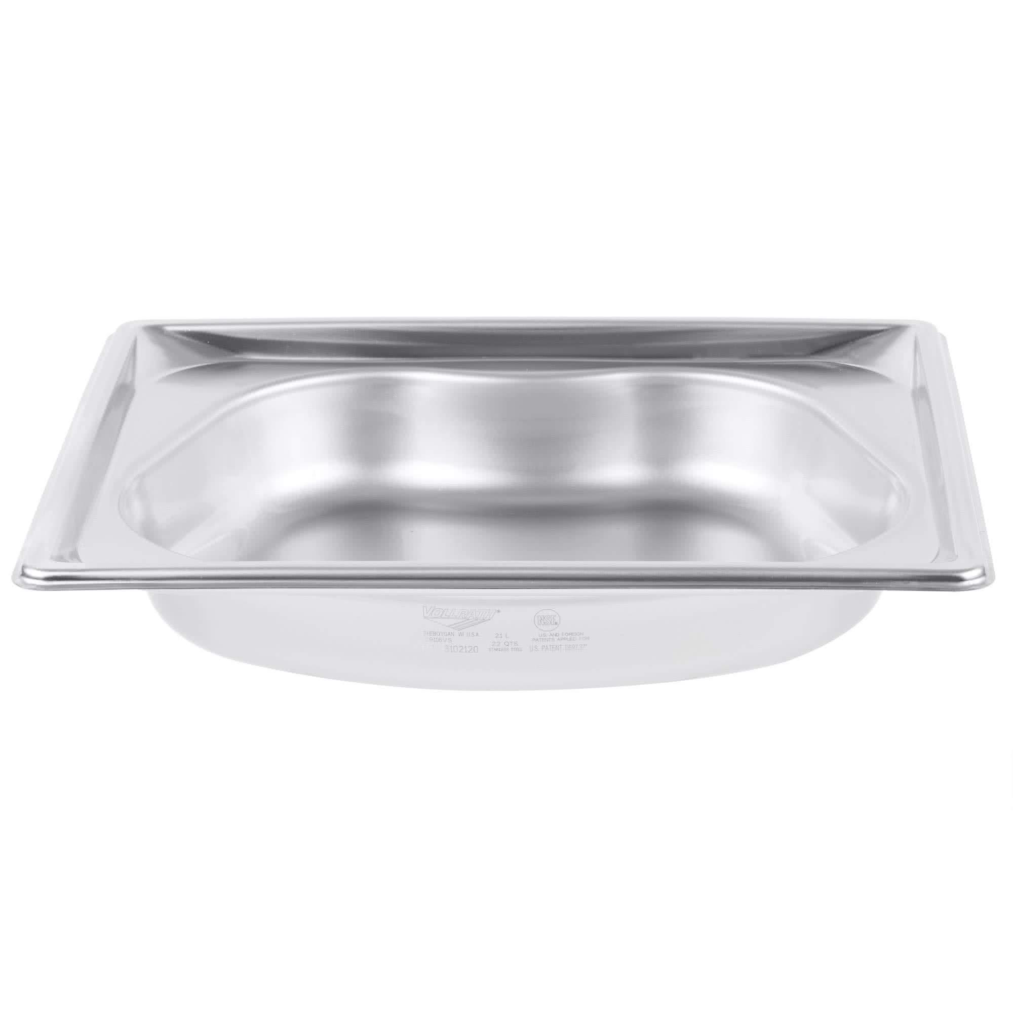 TableTop King 3102120 Super Pan 2 1/2'' Deep Super Shape Half Size Kidney Pan by TableTop King