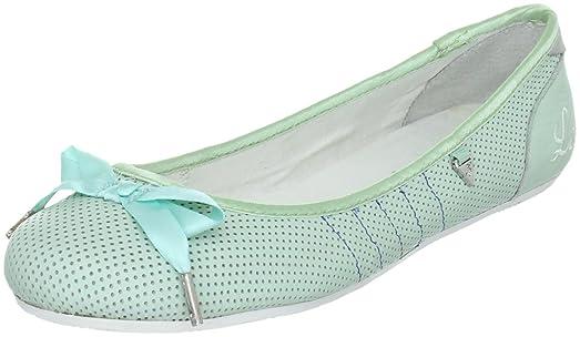 Le coq Sportif HYERES POWDER BALLERINA FJS 01040694.FJS - Zapatos de lona para mujer, color verde, talla 36