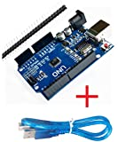 ARDUINO Uno R3 Development Microcrontroller Board SMD Version with Cable (Blue, Atmega328P)