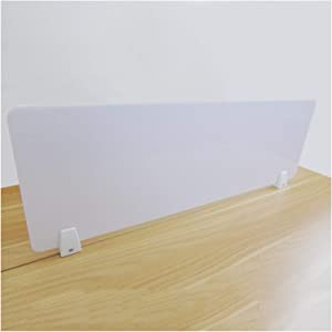 AGLZWY Office Partition, School Decoration Guard Panel, Portable Partition Dividers, for Desk Meeting Room Counter Barrier (Color : White, Size : 100x30cm)