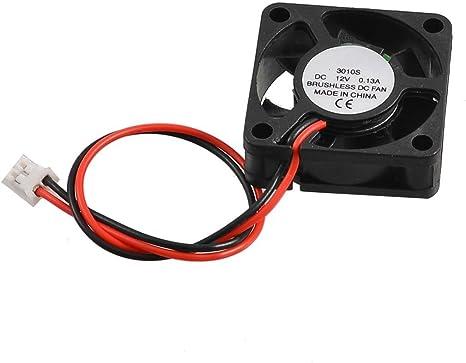 Ventilador refrigerador 30 mm x 30 mm X 10 mm 3010S 12V 0,13A sin ...