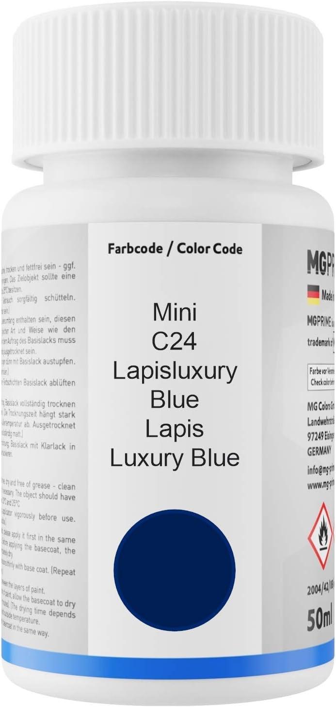 Mg Prime Autolack Lackstift Set Für Mini C24 Lapisluxury Blue Lapis Luxury Blue Basislack Klarlack Je 50ml Auto