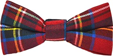 Traditional Red Tartan Check Bow Tie Plaid Stewart Tartan Highland Scotland