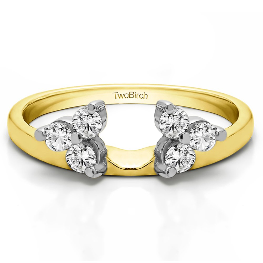 0.24Ct CZ Engagement Ring Jacket Mounted in Rose Plated Silver Size 3 to 15 in 1//4 Size Interval
