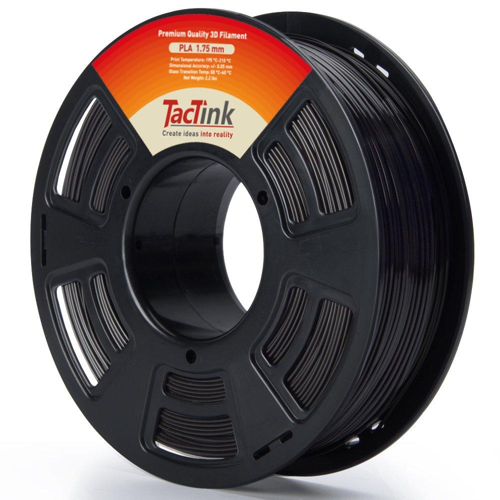 Negro 3d impresora filamento 1,75 mm PLA - 1 kg Spool (2.2 lbs ...