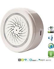 ECOOLBUY Smart WiFi Sensore di umidità della Temperatura Esterna per Interni Funziona con Alexa Google Home IFTTT per la casa Serra Garage nel seminterrato