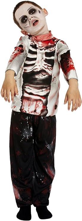 Niño Zombie Costume Niños Halloween Disfraces zombie Disfraz 4-12 ...