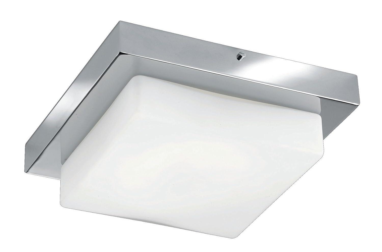 Trio Leuchten LED-Bad-Deckenleuchte in Chrom, Glas opal matt weiß ...