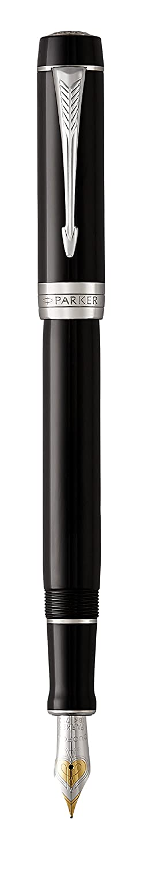 Pluma estilogr/áfica Ivory /& Black Parker Duofold Classic Plum/ín mediano Marfil negro