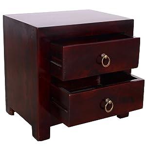 Ringabell Altavista Cubic Solid Sheesham Wood Bed Side Table (Brown)