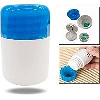 OFKPO Découpeur de Médicaments 2 en 1, Meuleuse de Médecine, Coupe-comprimés et Pilulier