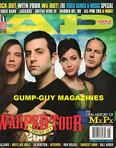 Alternative Press #229.2 AP August 2007 WARPED TOUR Lucky 13 ROCK OUT WITH OUR Wii OUT! VIDEO GAMES & MUSIC SPECIAL W/ROCK BAND, JACKASS, GUITAR HERO III, MADDEN NFL, ALL-PRO - Line Red Game Xiii