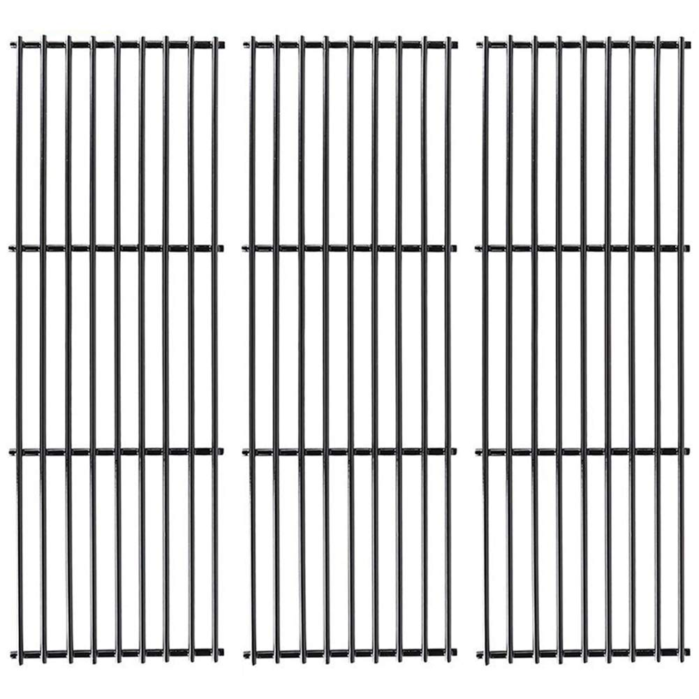 X Home Grill Grate 19 3/4'' Grill Replacement Parts 19 inch for Chargriller 5050, 5252, 4000, 3001, 3008, 3030, King Griller 3008 5252, Porcelain Steel(3 Pack,19 3/4'' x 6 3/4'')
