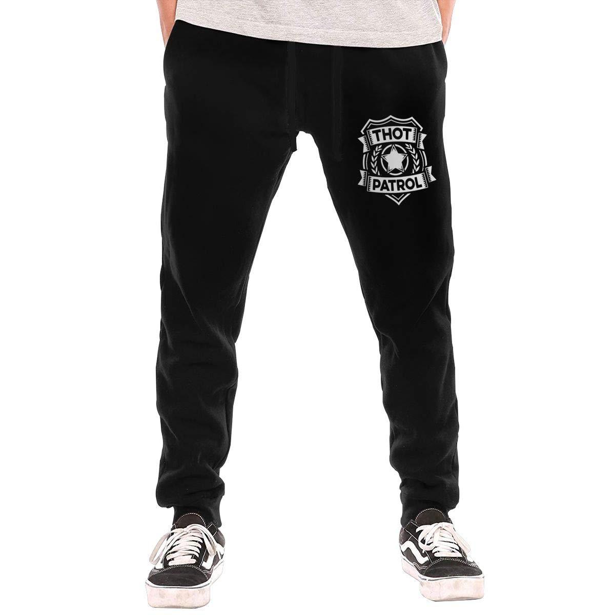 Dbou Thot Patrol Drawstring Waist,100/% Cotton,Elastic Waist Cuffed,Jogger Sweatpants Black