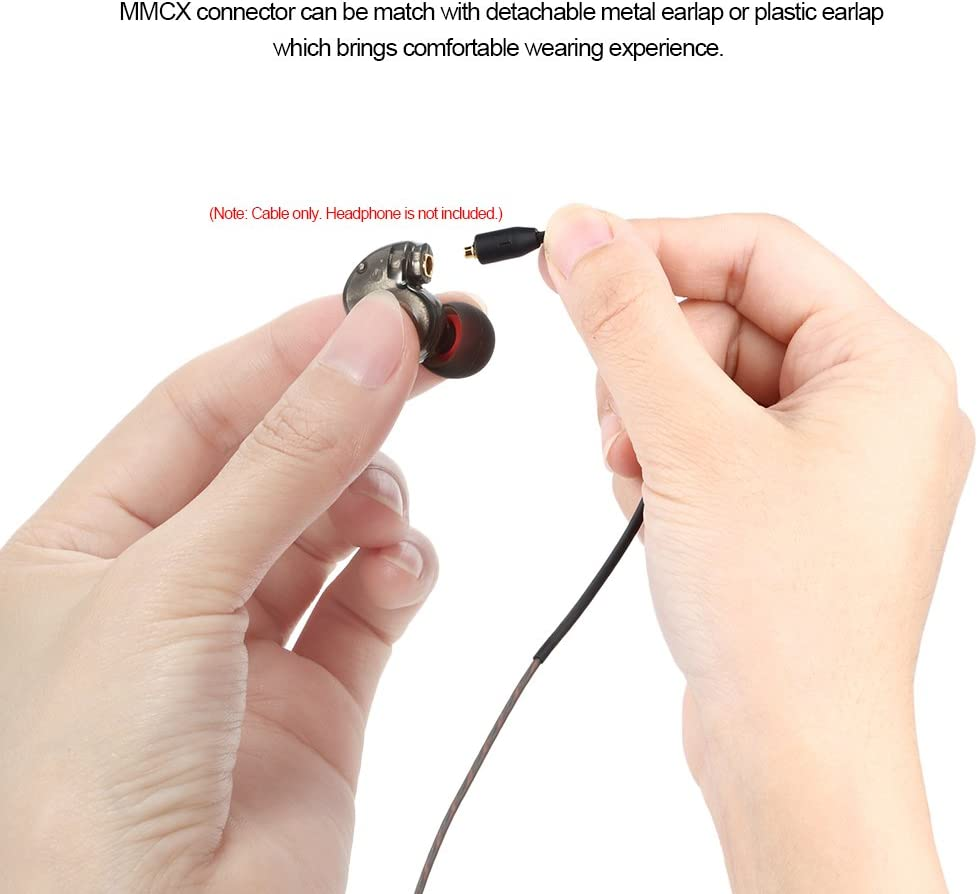 Docooler 3.5mm Wired Headphone Audio Cable Replacement Earphones MMCX Connector Detachable for Shure SE215// SE315 SE535 UE900 Ultrazone IQ for Sony Earphones SE425