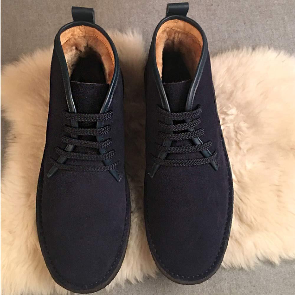 NIUMT Winter beiläufige Männer Baumwollschuhe Trend Plus Samt Warm Bequeme Trend Baumwollschuhe DarkBlau 6fcbc7