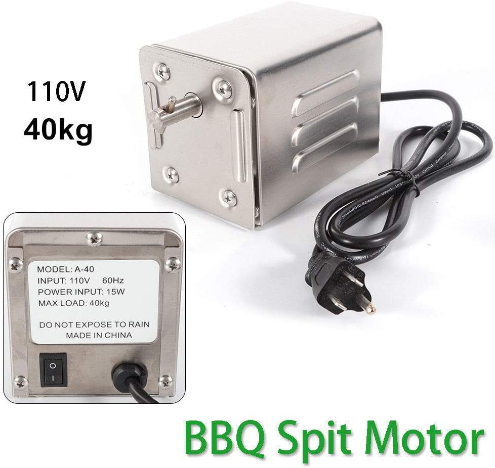 BBQ Motor 40KG Stainless Steel Pig Chicken Grill Electric Rotisserie Roaster US