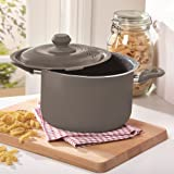 FAMILY-SIZE 4L DURASTONE PASTA COOKING POT WITH LOCKING STRAINER LID