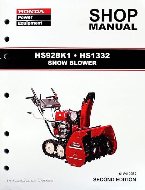 amazon com honda hs928 hs1332 snow blower thrower service repair rh amazon com honda hs928 snowblower service manual honda snowblower hs928 repair manual
