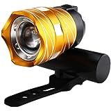 15000 LM zoombare XM-L T6 LED Fahrrad Beleuchtung Fahrrad Lampe Taschenlampe Scheinwerfer vorne mit USB wiederaufladbarer eingebauter Akku