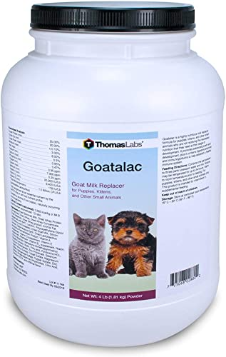 Thomas Laboratories 110-2720.P06 Goat-A-Lac Supplement Powder for Pets, 4-Pound