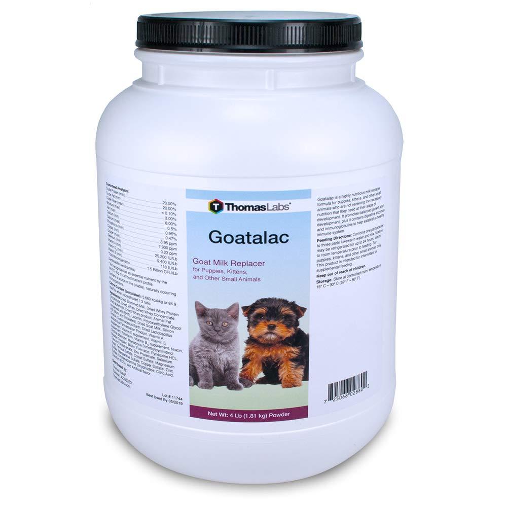 Thomas Laboratories 110-2720.P06 Goat-A-Lac Supplement Powder for Pets, 4-Pound by Thomas Lab