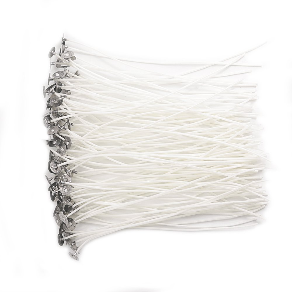 EricX Light 100 Piece Natural Candle Wick Low Smoke 8 Pre-Waxed /& 100/% Natural Cotton Core,For Candle Making,Candle DIY
