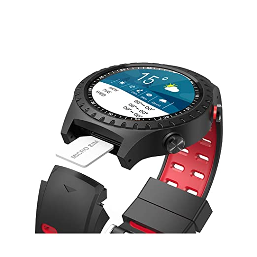 Amazon.com: Smart Watch M1 IP67 Waterproof Support Micro SIM Card Bluetooth Dial Call Heart Rate Monitor GPS Watch Sports Smartwatch,Red: Electronics