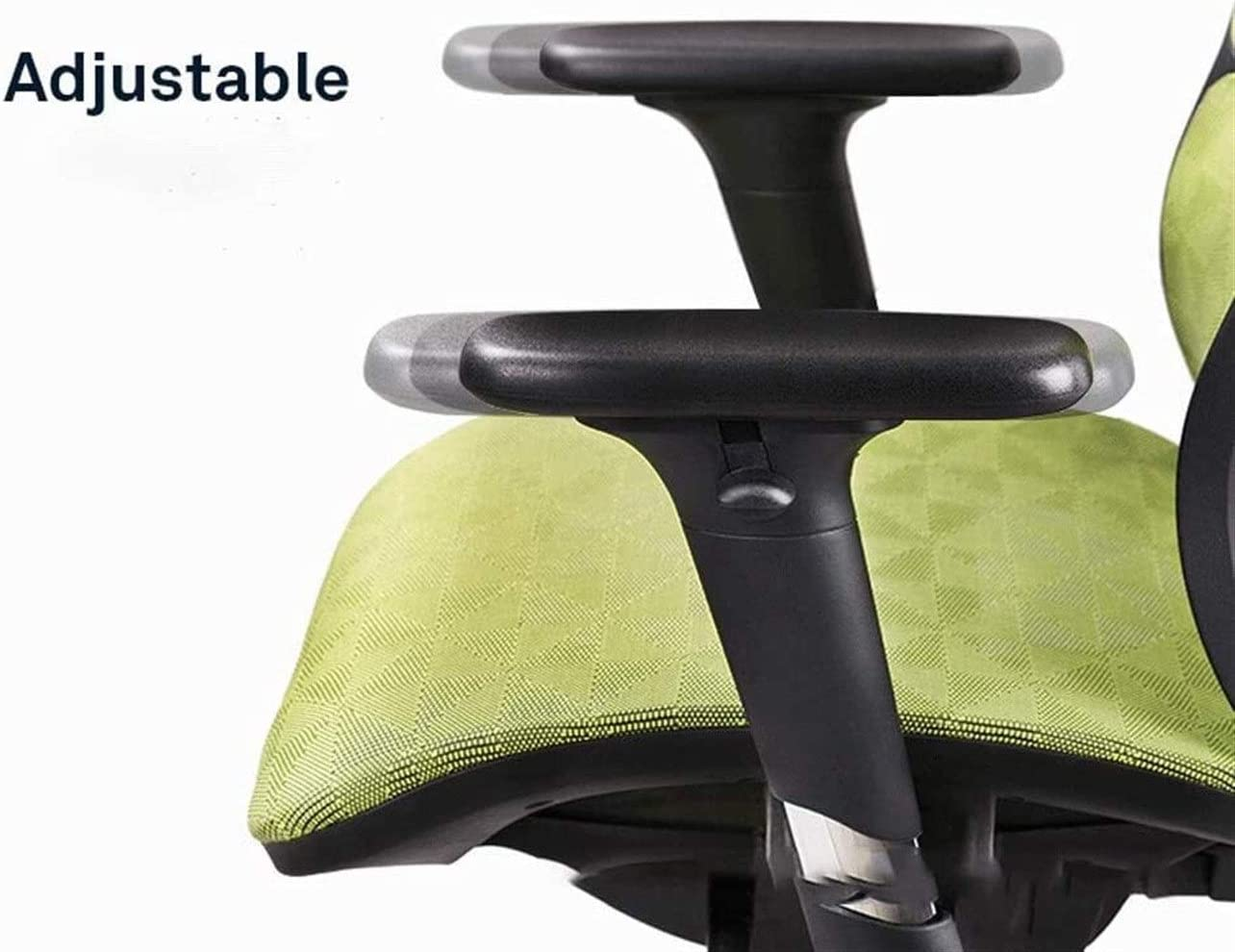 Avec soutien lombaire Reclining Accueil Chaise de bureau simple ordinateur moderne Mesh Chair Gaming président Gaming, Mesh dossier, chaise pivotante (Color : Grey) Black