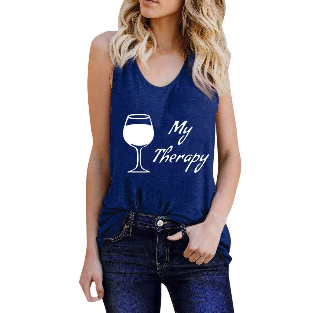 Chaleco de Mujer Camiseta Sin Mangas Impresión de la Copa de Vino ...