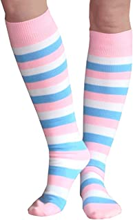 product image for Chrissy's Socks Women's Cotton Candy Socks 7-11 Pink/White/Blue