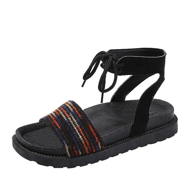 SANFASHION Bekleidung SANFASHION Damen Schuhe 144155 - Romana de Lona Mujer, Color Multicolor, Talla 35 EU: Amazon.es: Ropa y accesorios