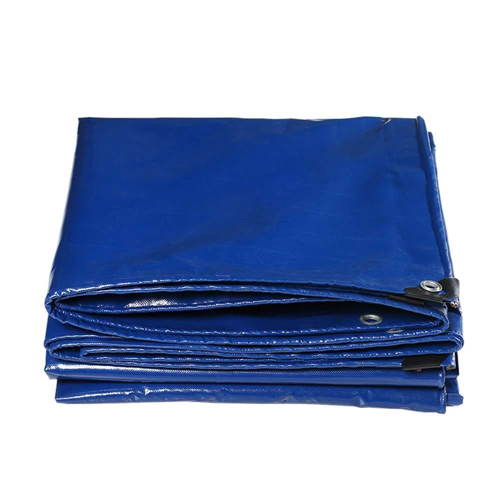 LIXIONG オーニング 屋外の シェード 防水 キャンバス 耐酸化性 引き裂き抵抗 防風 防水シート、 13サイズ (色 : 青, サイズ さいず : 3x6m) 3x6m 青 B07Q45RBPL