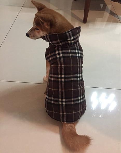 AIYUE Ropa Mascotas Invierno Otoño Chaleco Perro Impermeable Abrigo Chaqueta Capa Caliente Cachorro Perrito Grande Mediano Pequeño, Uso de Ambos Lados: ...